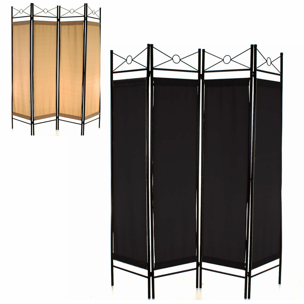 4 panel room divider screen privacy wall movable partition folding separator new ebay. Black Bedroom Furniture Sets. Home Design Ideas