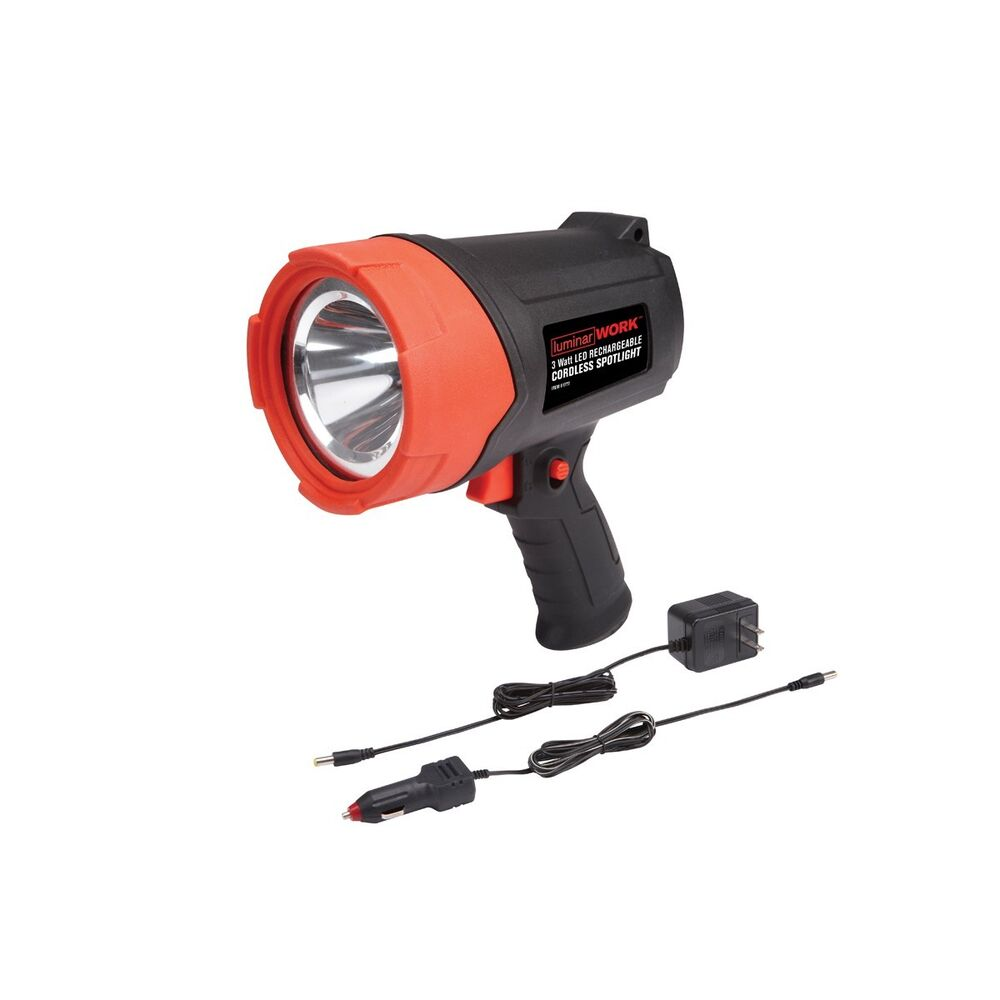 12 Watt Rechargeable Portable Led Work Light For Workshop: LED One Million Candlepower Rechargeable Cordless