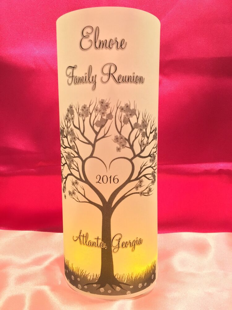 10 Personalized Family Reunion Luminaries Table