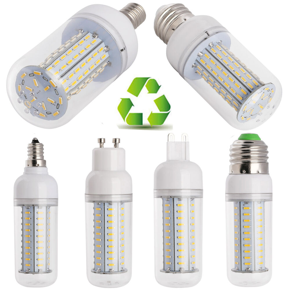 Dimmable E26 E12 E27 GU10 G9 E14 LED Corn Bulb Light SMD 4014 14W 18W ...