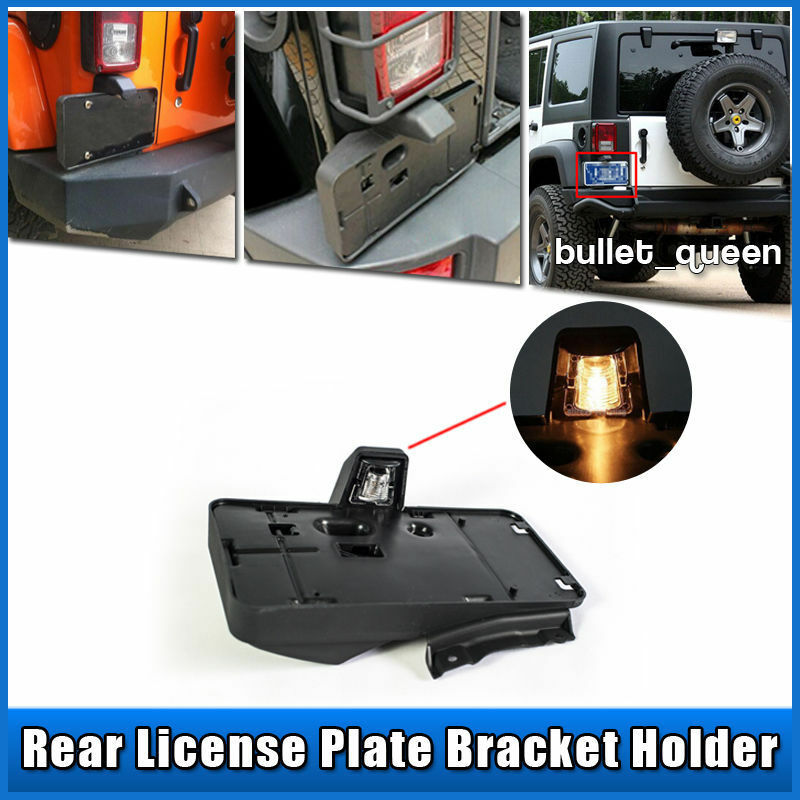 Rear License Plate Tag Holder Bracket With Light For 07 16