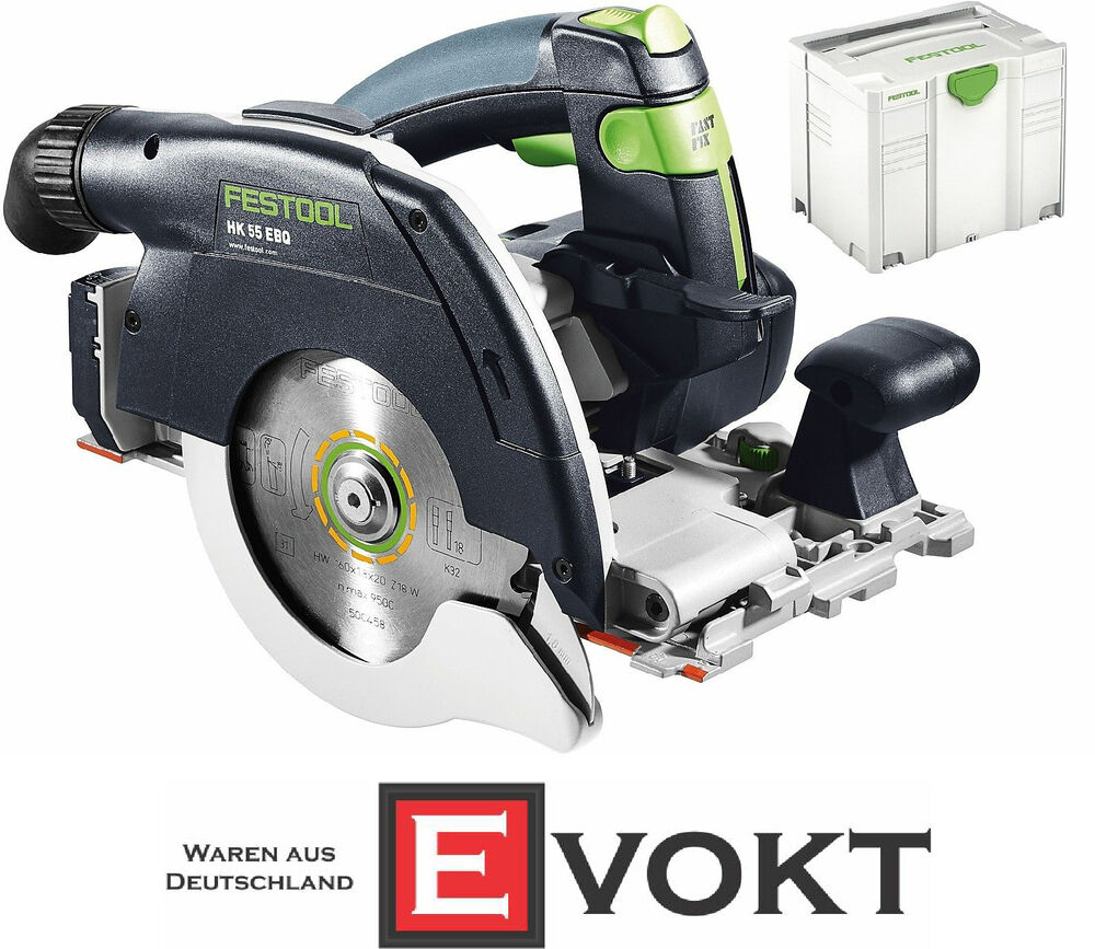 festool 561731 portable circular saw hk 55 ebq plus sys 4 t loc genuine new 2016 ebay. Black Bedroom Furniture Sets. Home Design Ideas