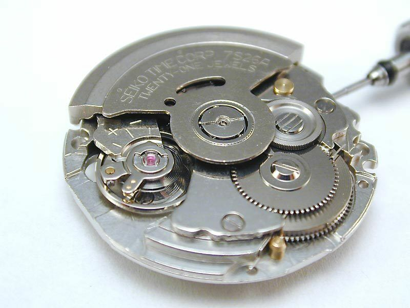Seiko 7s26 movement parts list including dials hands casing strap ebay for Auto movement watches