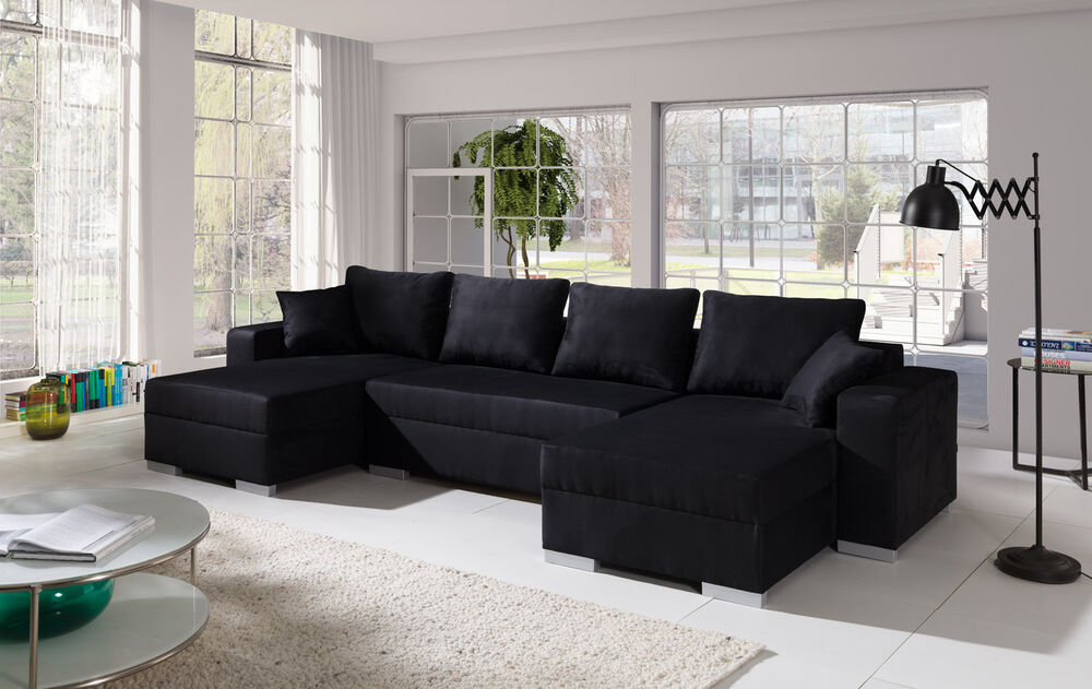 couch sofa couchgarnitur sofagarnitur u wohnlandschaft schlaffunktion 4112200 ebay. Black Bedroom Furniture Sets. Home Design Ideas