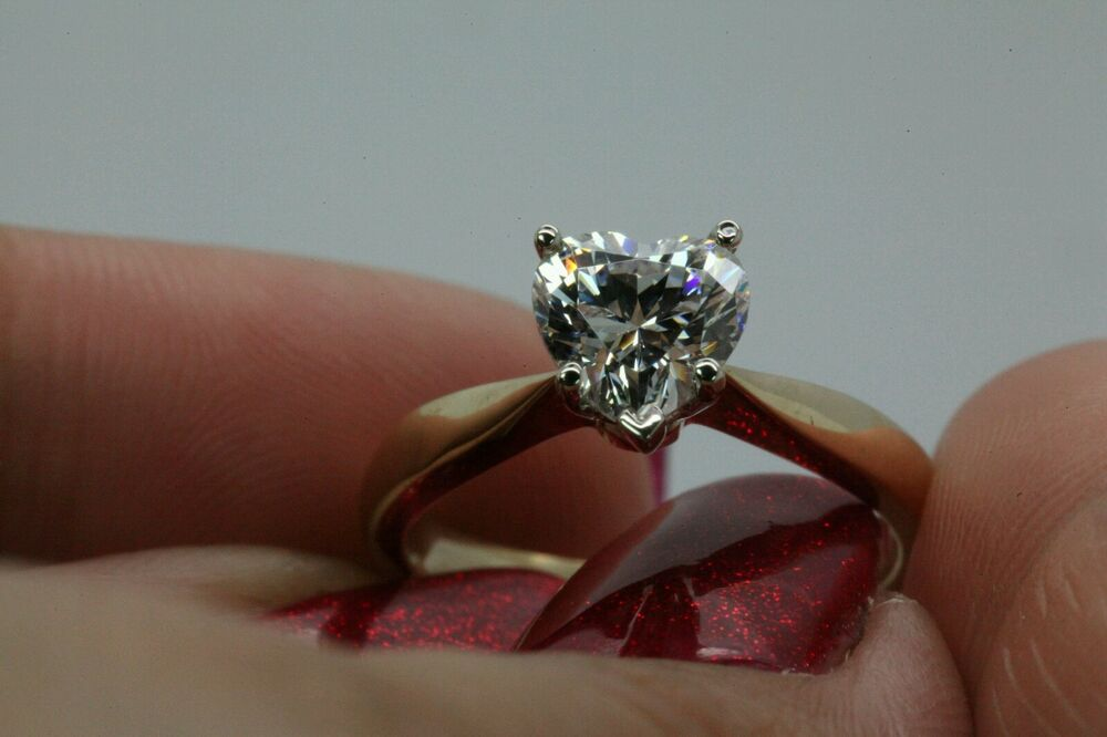 1.00CT BRILLIANT HEART SHAPED CUT SOLITAIRE ENGAGEMENT