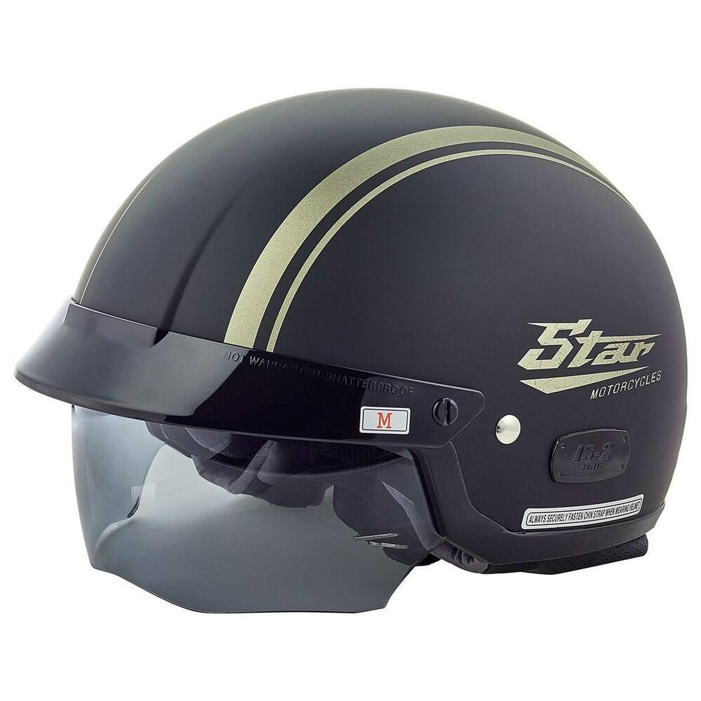 Star Motorcycles Y2 Helmet by HJC Black Motorcycle Bike ...