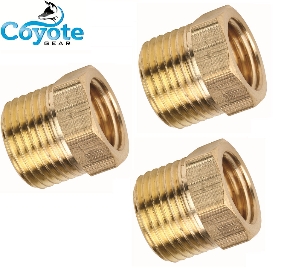 3 Pack Brass Reducing Bushing 1 2 Quot Male Mnpt X 3 8 Quot Female