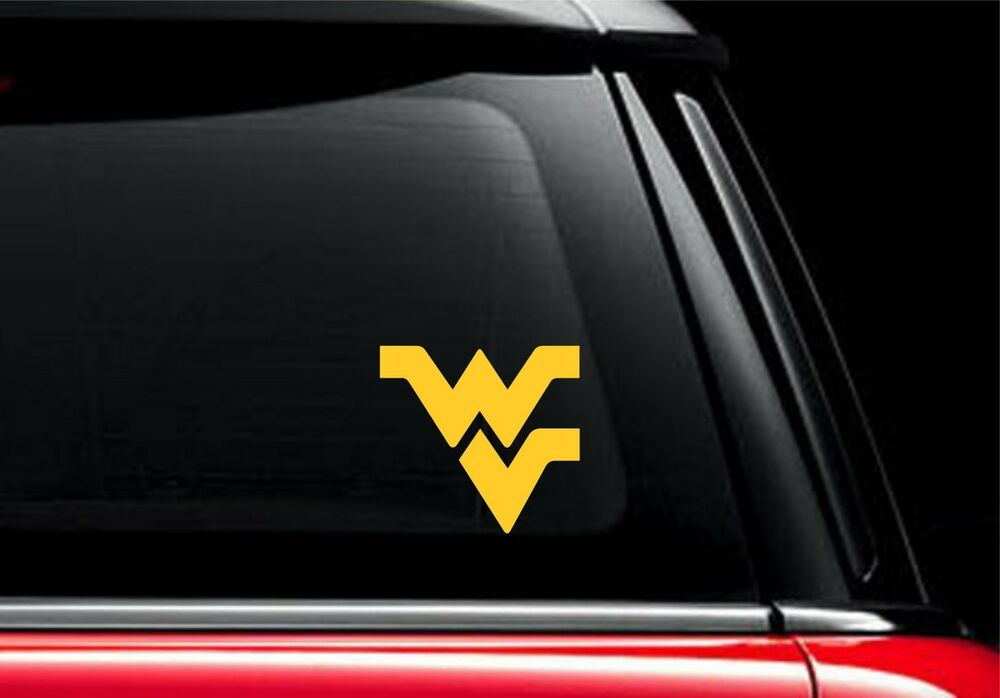 "WVU Flying WV 4"" Vinyl Car Truck Decal Sticker West ..."