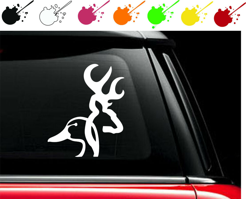 Vinyl Window Decals : Duckhead browning vinyl car truck window decal sticker
