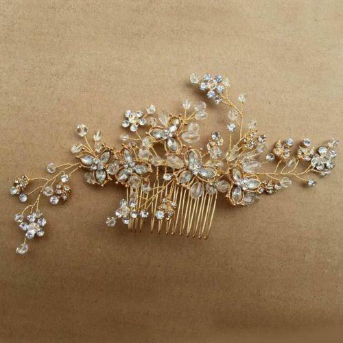 Vintage gold wedding party hair comb crystal vine bridal for Where to buy wedding accessories