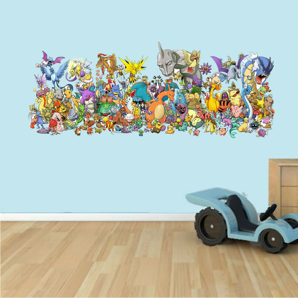 POKEMON GO CHARACTERS WALL ART DECOR STICKER Decal, Mural
