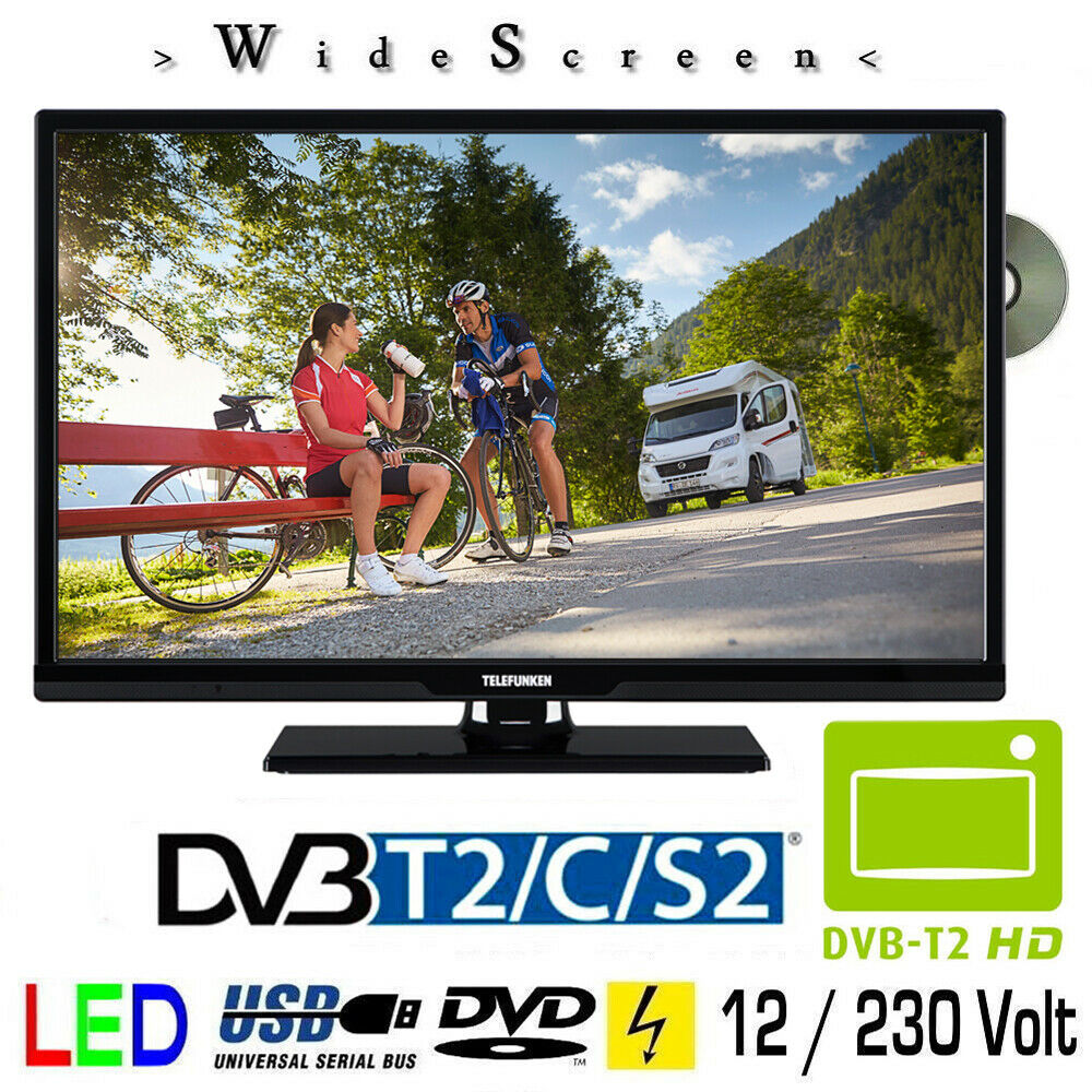 telefunken t24x740mobil dvd led tv 24 zoll dvb s s2 t2 c. Black Bedroom Furniture Sets. Home Design Ideas