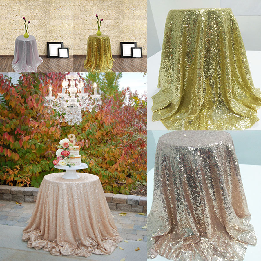 Sparkle Table Cloth Round Bling Sequin Tablecloth Wedding ...