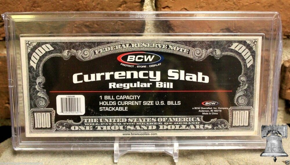 Bcw Deluxe Currency Slab Dollar Case Regular Banknote