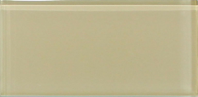 Straw Light Brown 3x6 Glass Subway Tiles For Kitchen
