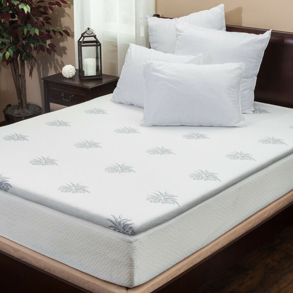 Silica Gel 2 Quot King Size Memory Foam Mattress Pad Topper Ebay