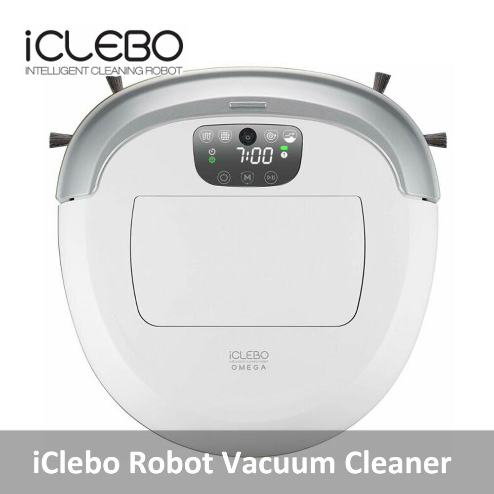 iclebo ycr m07 20 omega white robotic robot vacuum cleaner smart yujin robot 8809172292266 ebay. Black Bedroom Furniture Sets. Home Design Ideas
