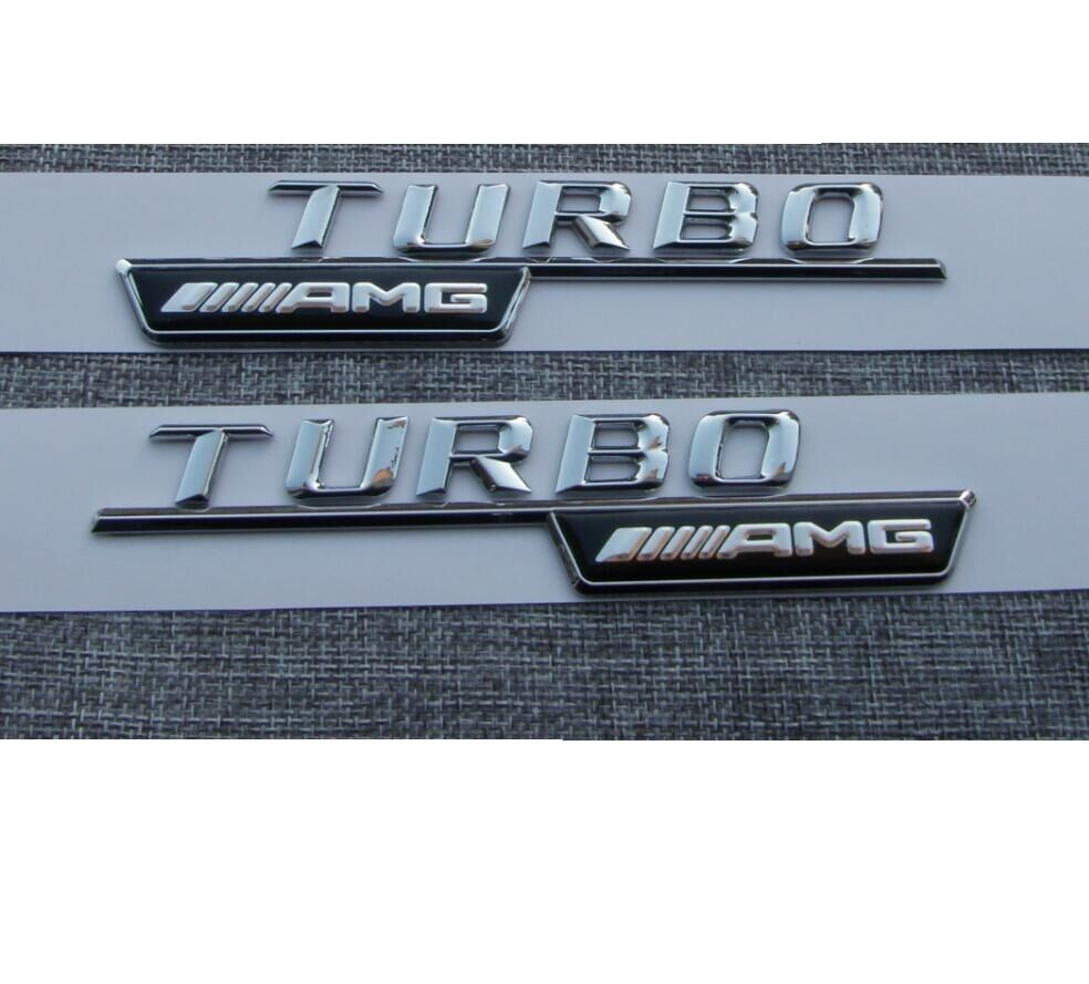 1 pair chrome abs letters trunk emblem badge sticker for for Mercedes benz trunk emblem