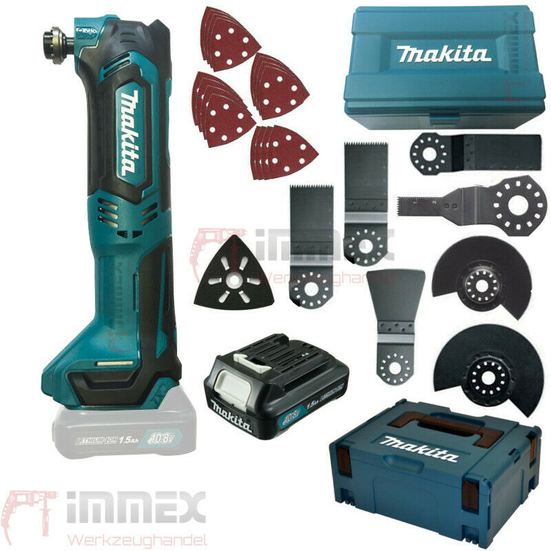 makita tm30dy1jx5 akku multifunktionswerkzeug multitool fein 10 8v 1 5ah zubeh r ebay. Black Bedroom Furniture Sets. Home Design Ideas