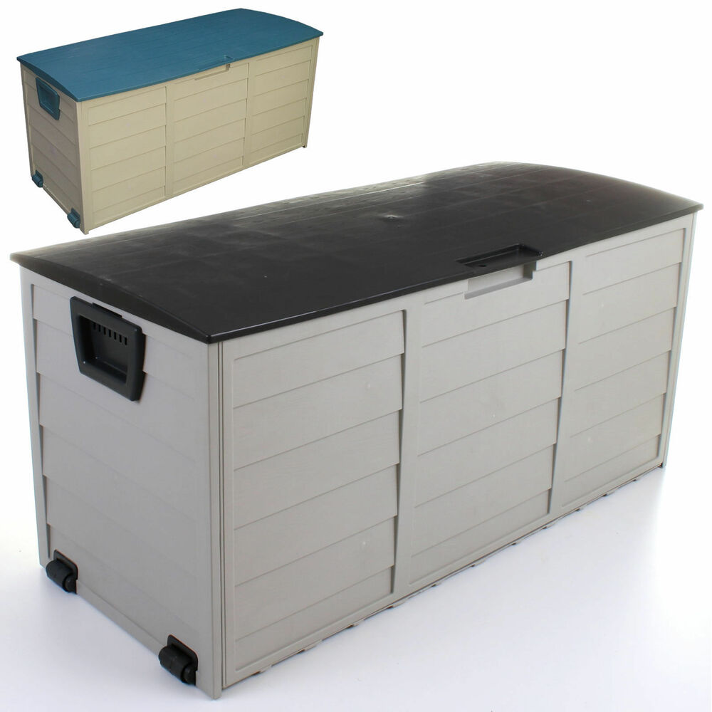 outdoor garden plastic storage cushion box shed utility chest