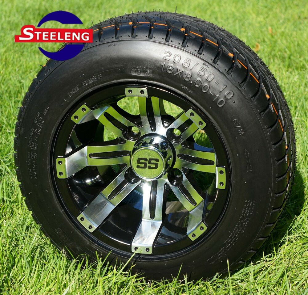 10 Inch Wheels For Golf Cart : Golf cart quot machined tempest wheels rims and