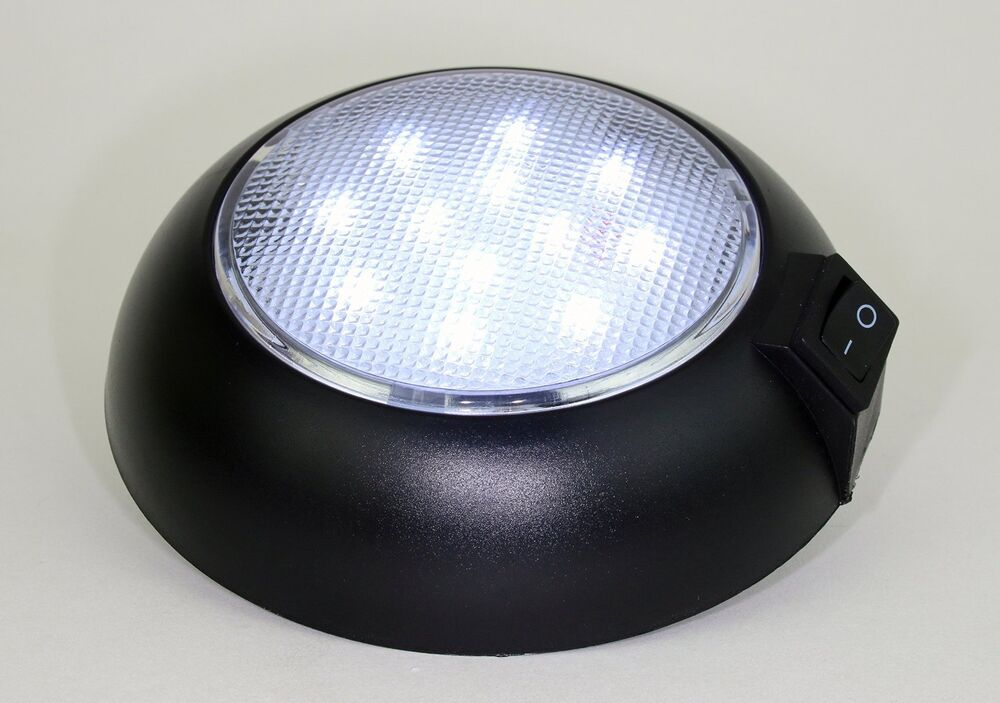 battery powered led dome light magnetic or fixed mount 120 lumen aaa cells ebay. Black Bedroom Furniture Sets. Home Design Ideas