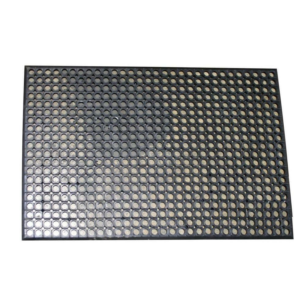 Rubber Flat Mat 3 X 5 Commerical Anti Fatigue Kitchen Non Slip Floor Black Rug Ebay