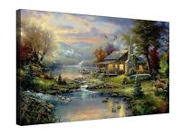 Thomas Kinkade-Nature's Paradise - Gallery Grade Canvas Wall Art + Various sizes