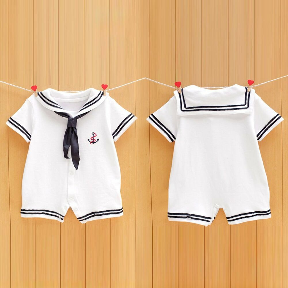 Newborn Infant Baby Boy Girls Sailor Romper Jumpsuit Bodysuit Outfit Clothes Set | eBay
