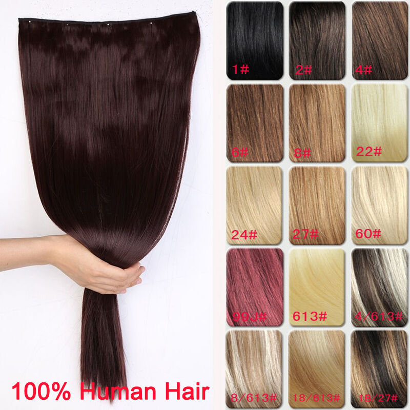 Premium Long Thick Clip In Hair Extensions One Piece 100% ...