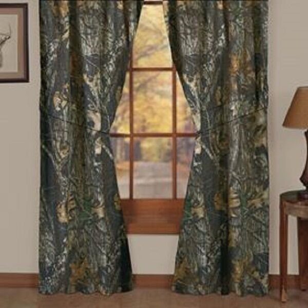 Mossy Oak New Break Up Camo Window Drape Set Camo 84