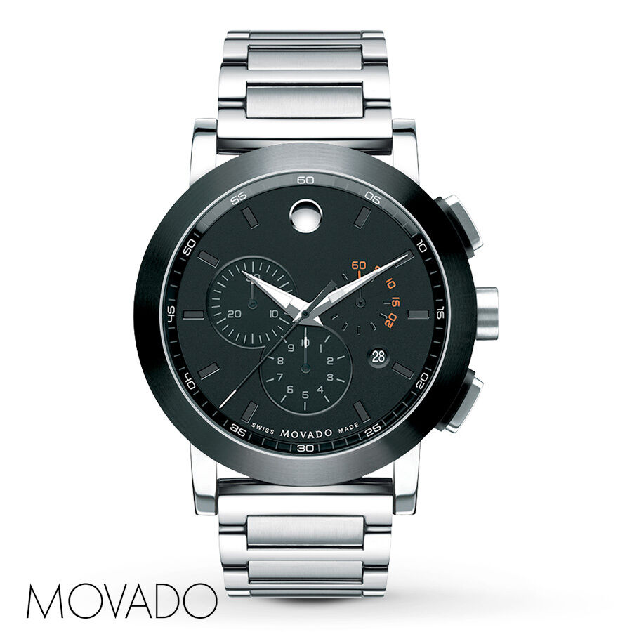 new movado museum sport chronograph stainless steel