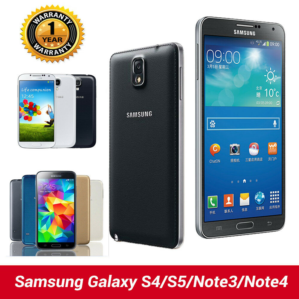 Samsung galaxy s4 s5 s6 note 3 note 4 factory unlocked smartphone