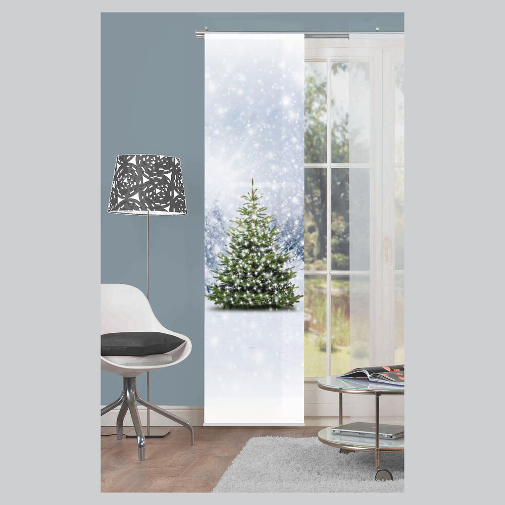 weihnachtsbaum schiebevorhang schiebegardine raumteiler home wohnideen schmidt ebay. Black Bedroom Furniture Sets. Home Design Ideas