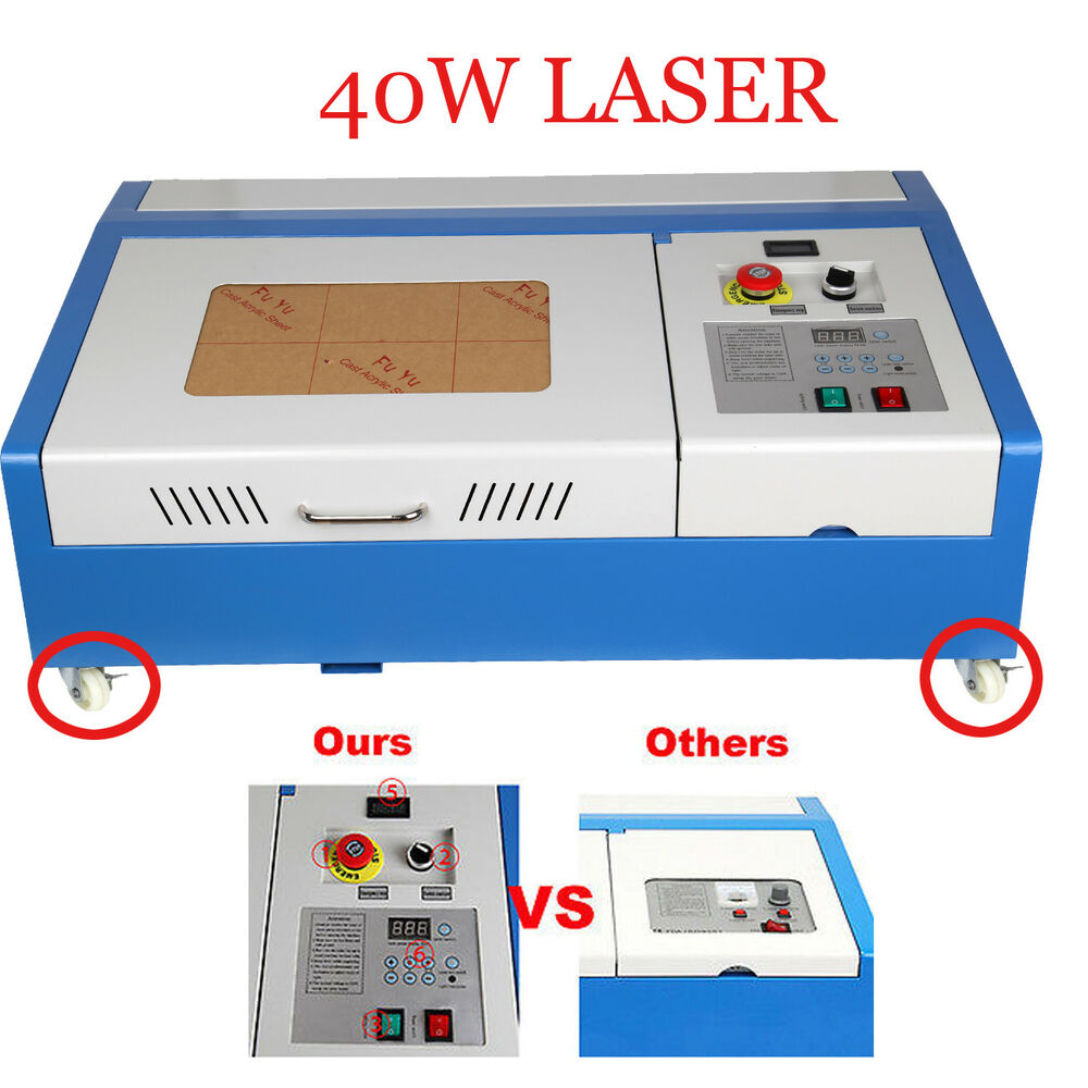 40w Co2 Laser Engraving Engraver Cutter Lcd Display Water