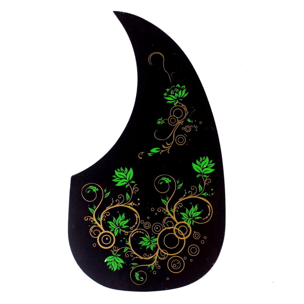 self stick thin pickguard for martin acoustic guitar style 6 black w pattern 790518264734 ebay. Black Bedroom Furniture Sets. Home Design Ideas