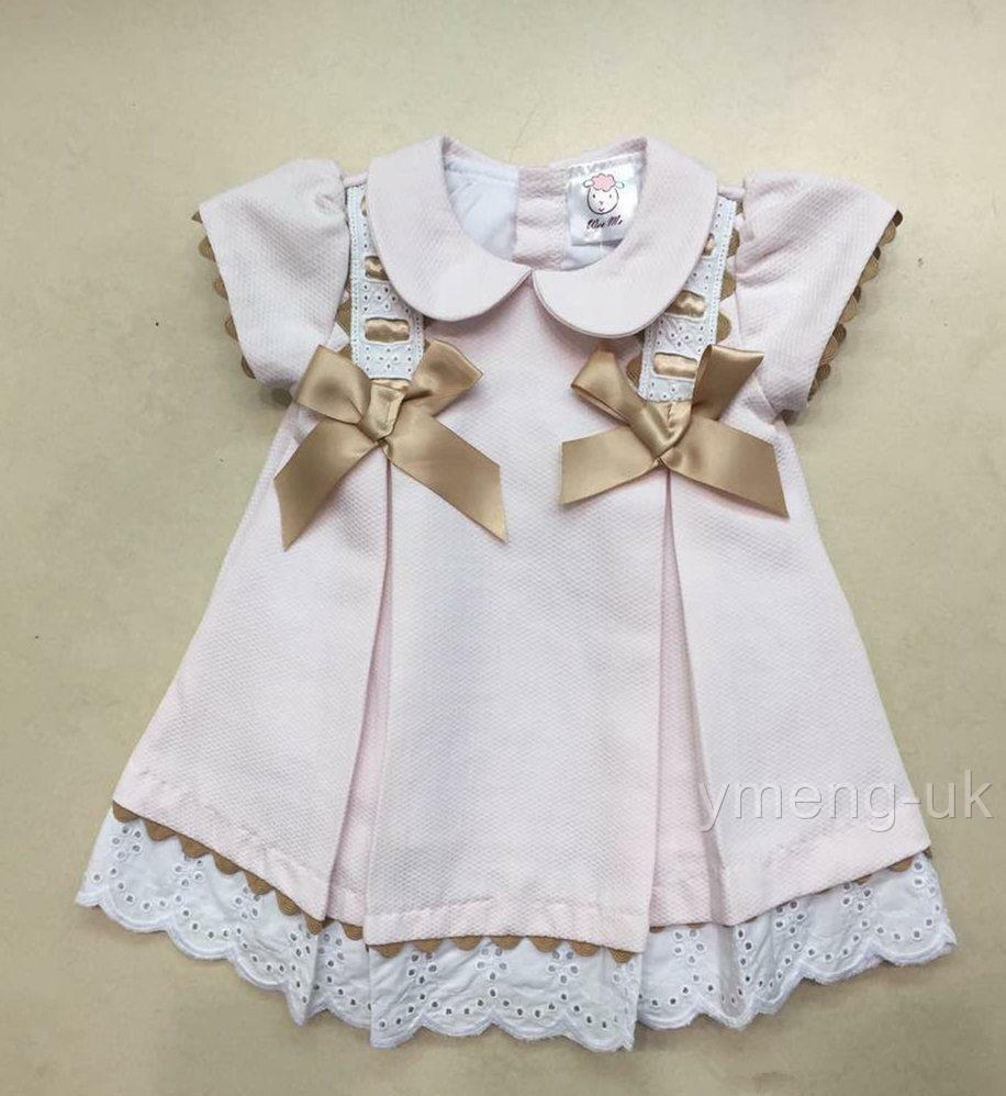 Beautiful Wee Me Baby Girls Pink Spanish Princess Dress -9975