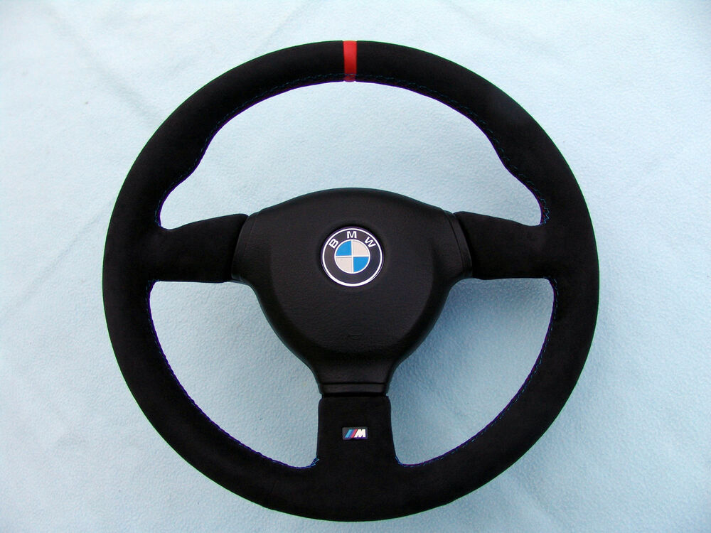 Bmw M Technic 2 Steering Wheel E36 M3 New Alcantara With Red Marking Ebay