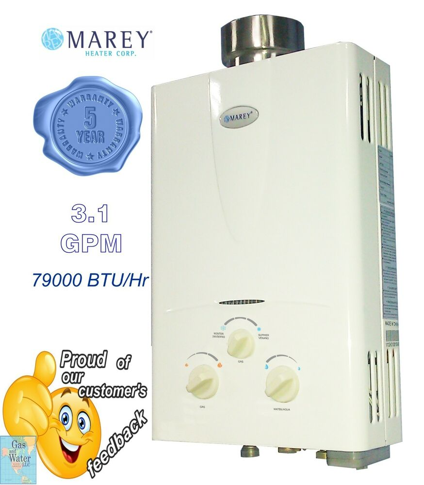 Tankless Gas Water Heater 3 1 Gpm Lpg Propane 2 Bath House Rv Marey Ga10lp Ebay