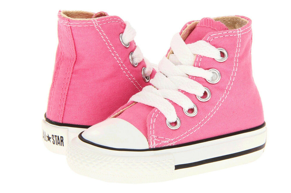 Converse Hi Tops Pink All Sizes Infant Toddler Baby Boys