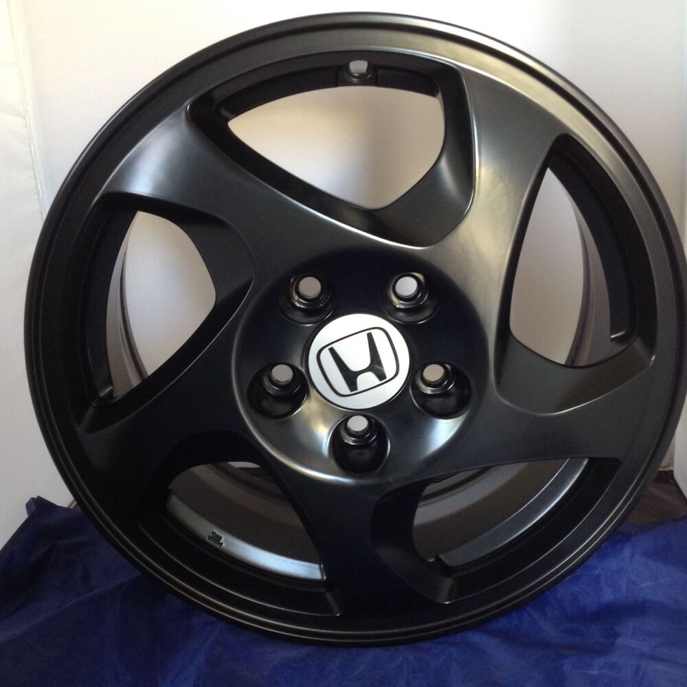 oem honda prelude wheels rims 16 black1998 1999 2000 2001. Black Bedroom Furniture Sets. Home Design Ideas