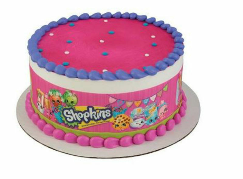 Shopkins edible cake strips frosting icing sides for How to make edible cake decorations at home