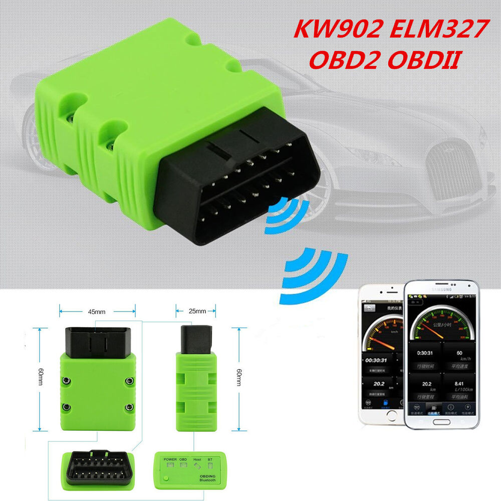 kw902 elm327 bluetooth wireless obd2 obdii interface car. Black Bedroom Furniture Sets. Home Design Ideas
