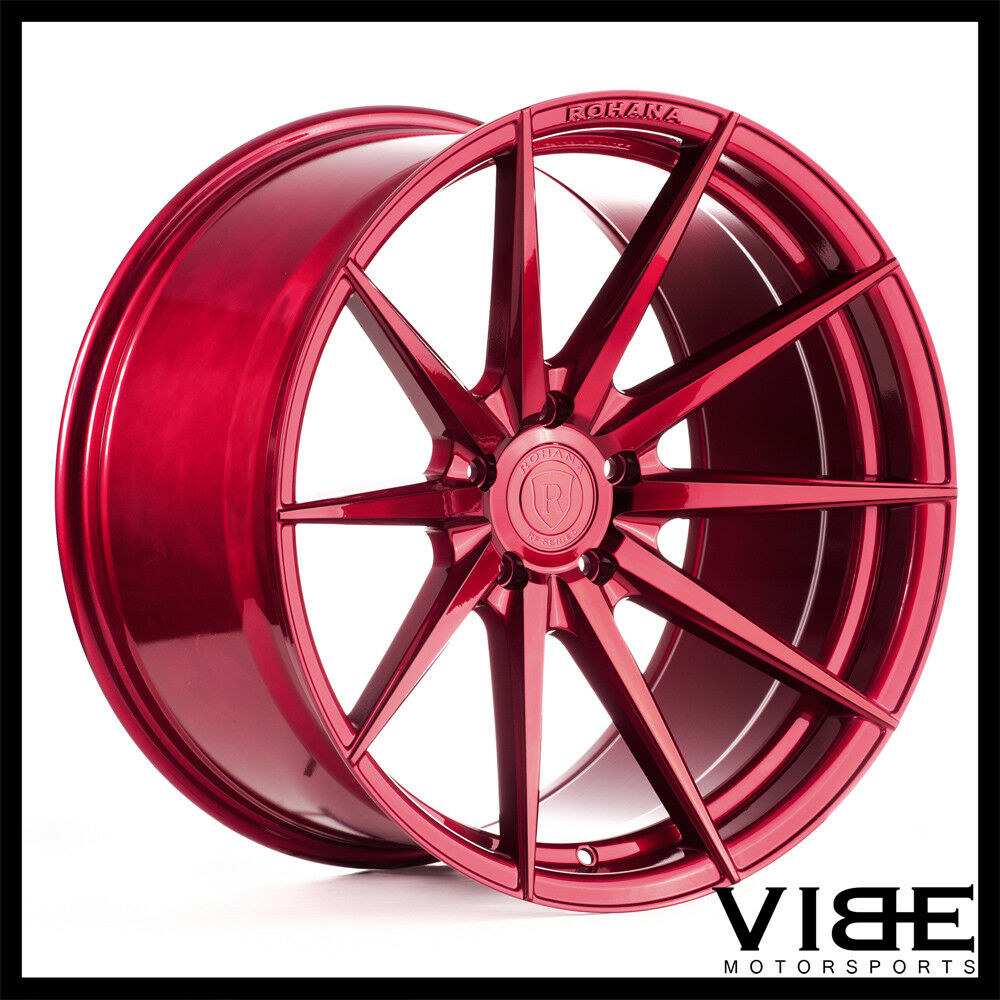 20 Rohana Rf1 Red Forged Concave Wheels Rims Fits Nissan Gt R Ebay