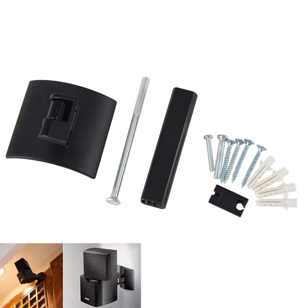 Black Wall Mount Plastic Metal Clamping Bracket For