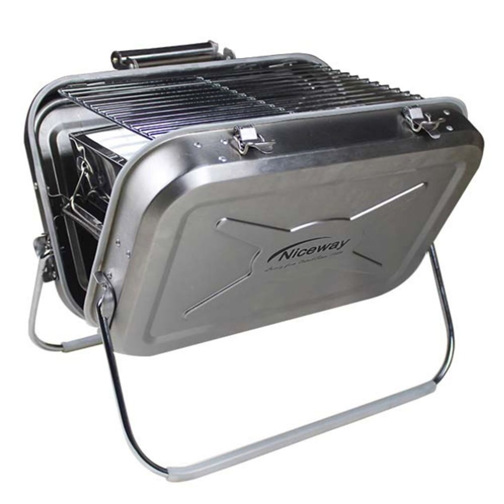 bbq charcoal grill stainless steel portable ebay. Black Bedroom Furniture Sets. Home Design Ideas