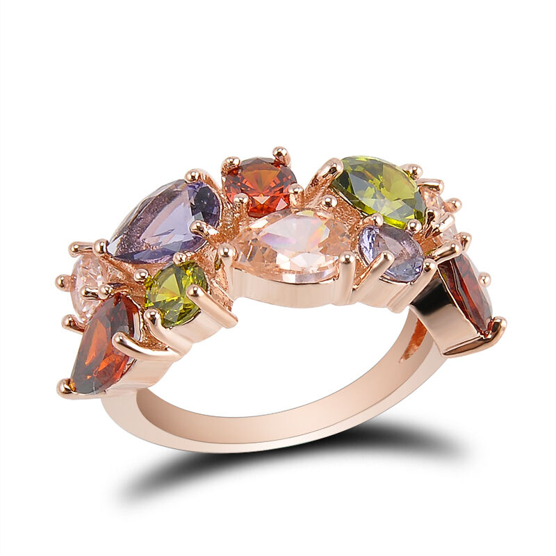 New Gold Filled Multi Color Wedding Engagement Crystal