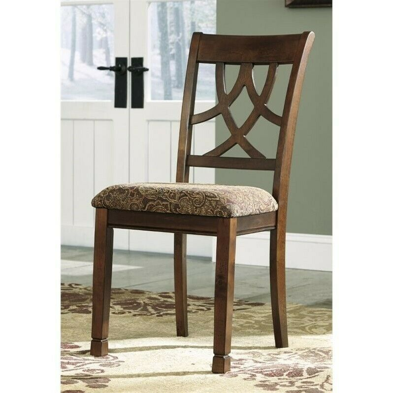 Ashley Furniture Tripton Medium Brown Dining Bench With Corner: Ashley Leahlyn Upholstered Dining Chair In Medium Brown