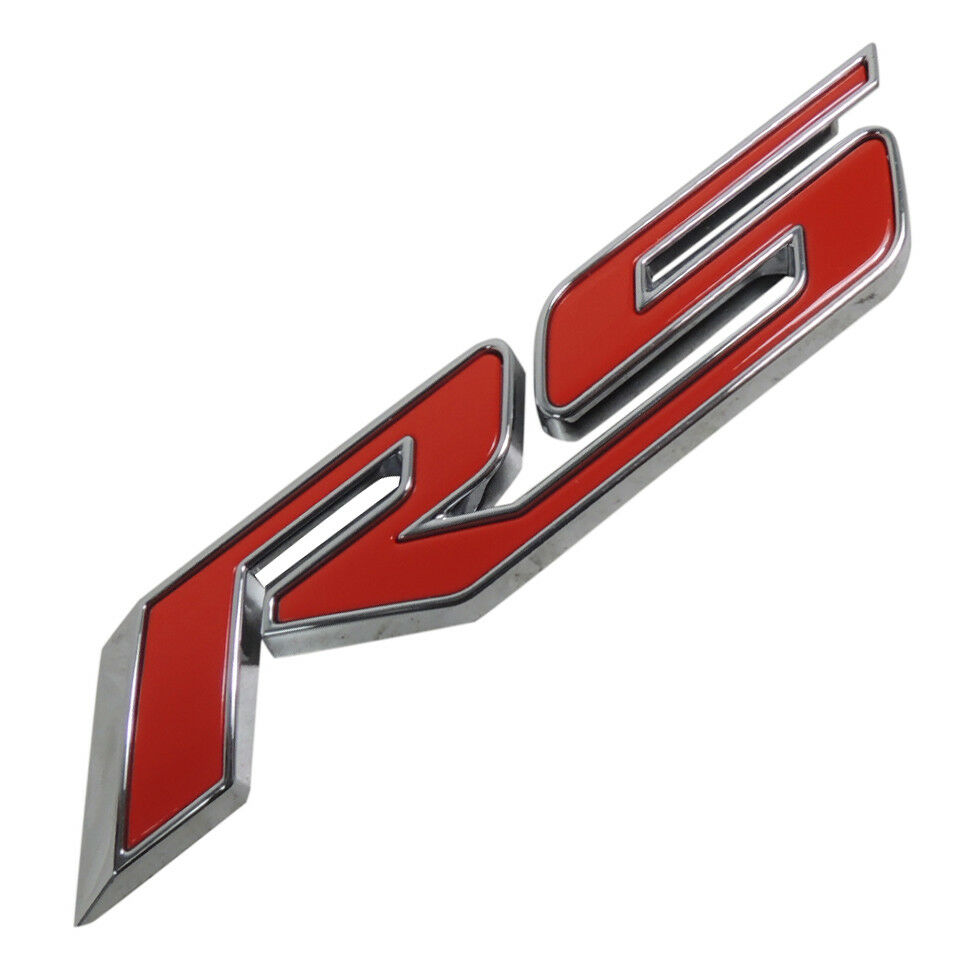 22877479 Red Rs Nameplate Emblem New Oem Gm 2011 15