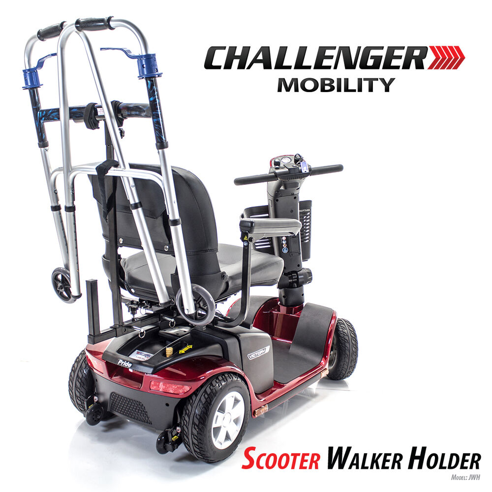 Walker holder for pride merits golden drive challenger for Mobility walker